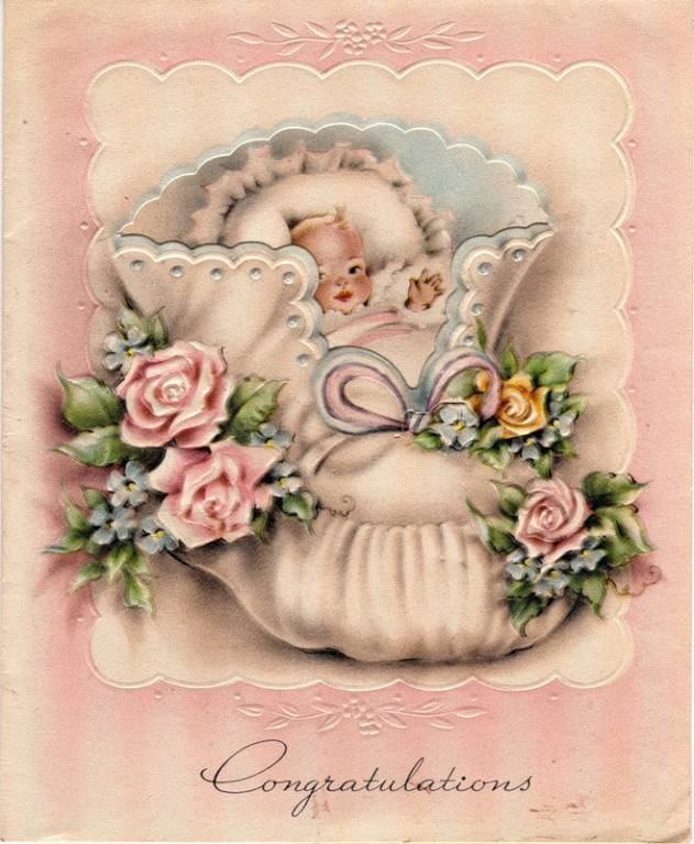 Открытки, открытка с младенцем
