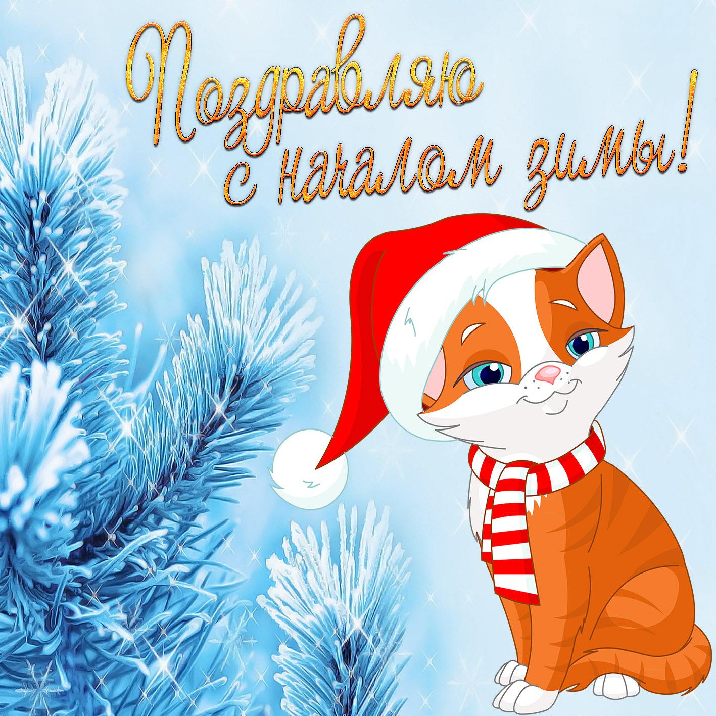 Праздничные открытки, картинки поздравления с зимой